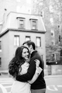 NYC Romantic Engagement Session , Adorable West Village Engagement Photographer